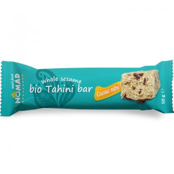 Nomad Bio Tahini bar Cacao nibs 800x800